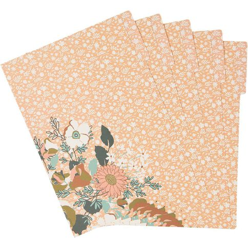 Uniti Winter Bloom Manila Folder 5 Pack