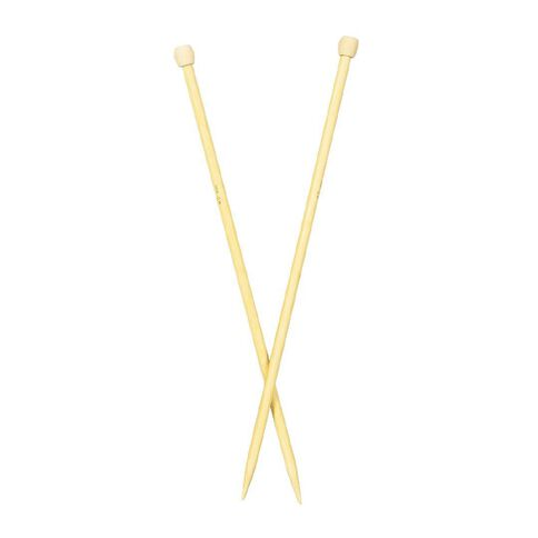 Uniti Knitting Needles Bamboo 8.0mm 35cm Brown 2 Pack