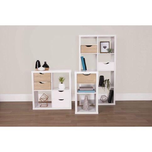 Living & Co Valencia Cube Storage Shelf Insert Oak