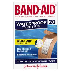 Band Aid Tough Strip Waterproof 20 Pack