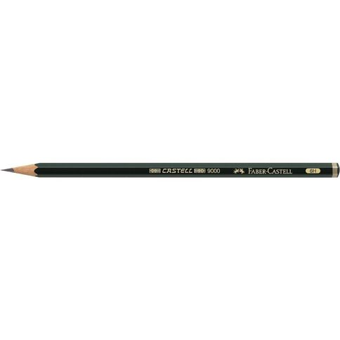 Faber-Castell 9000 Artist Pencil 6H Black
