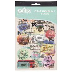 SKINZ Sticker Book Travel Foil 25cm x 15cm 6 Page