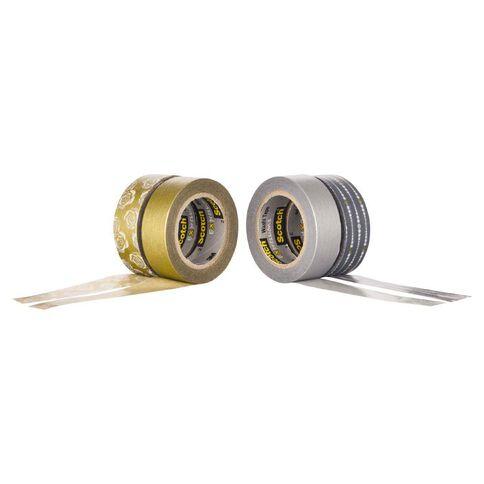 Scotch Washi Craft Tape Multipack Silver/Gold