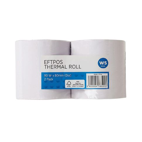 WS Eftpos Roll 57 x 40mm Twin Pack
