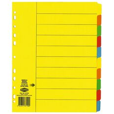 Marbig Dividers Manilla 10 Tab Extra Wide A4