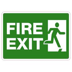 Impact Fire Exit Sign Small 240mm x 340mm