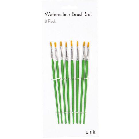 Uniti Brush Set Watercolour 8 Piece