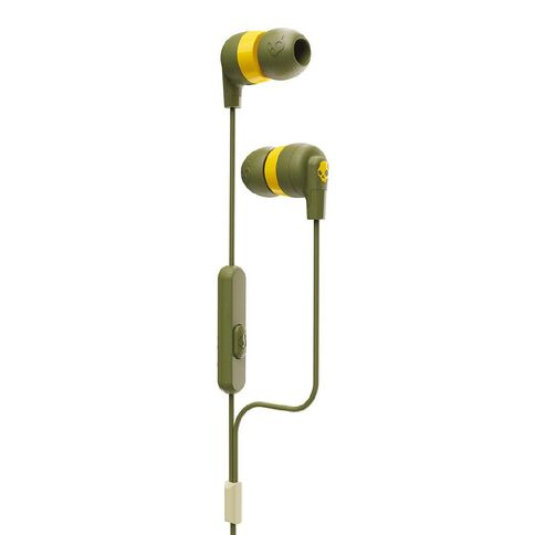 Skullcandy Ink'd+ Earbuds Olive/Yellow
