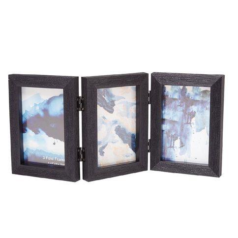 Photo Frame Plastic 3 Piece 4x6 inch 14x19x6 Black