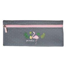 Impact Pencil Case Neoprene Long Flamingo