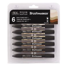 Winsor & Newton Brushmarkers Skin Tones 6 Pack