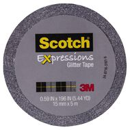 Scotch Craft Glitter Tape 15mm x 5m Grey