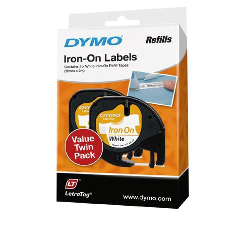 Dymo LetraTag Iron-On Labels 2 Pack