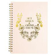 Uniti Secret Garden Hardcover Notebook Crush Goals A4