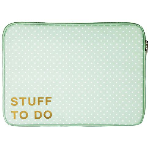 14 inch Notebook Sleeve Pastel Geo Stuff to Do