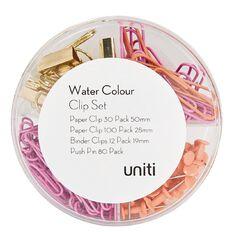 Uniti Water Colour Clip Set