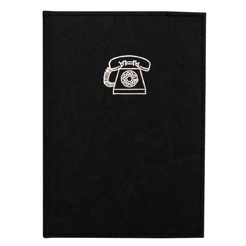GBP Stationery Address Book Marble Black A6