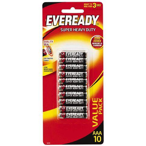 Eveready Super Heavy Duty AAA Battery 10 Pack