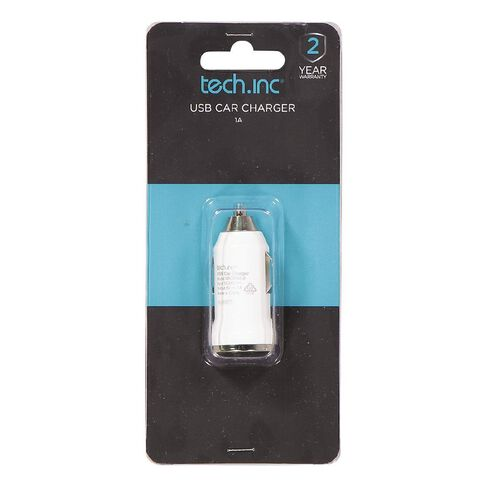 Tech.Inc USB Car Charger 1A White