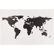 Uniti World Map Canvas Black/White 90cm x 60cm x 1.8cm