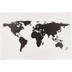 Uniti World Map Canvas Black/White 90cm x 60cm x 1.8cm