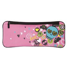 Pencil Case Skull Flash Pink