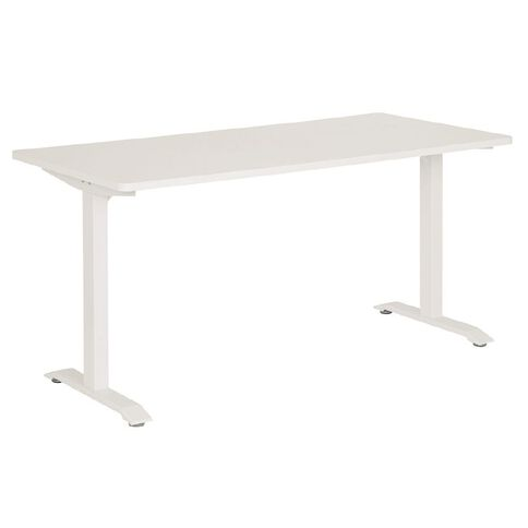 Jasper J Emerge Metal Leg Desk 1500 White/White