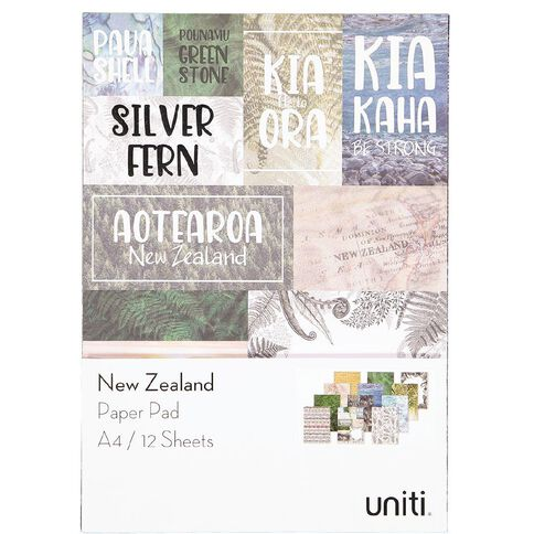 Uniti New Zealand Paper A4 12 Sheets