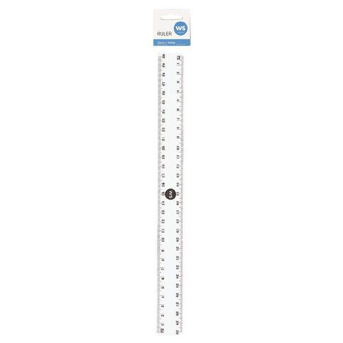 WS Ruler 30cm White