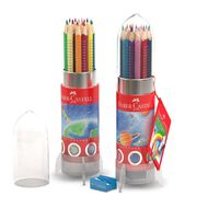 Faber-Castell Colour Grip Rocket Tin Of 20 Assorted