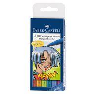 Faber-Castell Manga Shojo 6 Pitt Artist Pens Multi-Coloured