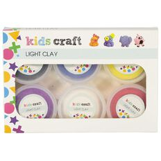 Kookie Light Clay Multi-Coloured 6 Pack