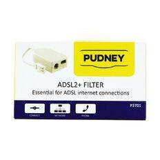 Pudney Adsl2+ Abd Vdsl Phone Line Filter White