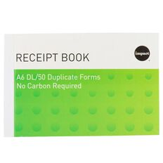 Impact Receipt Book A6Dl Ncr 50 Receipts Green