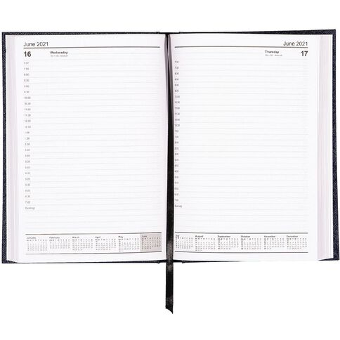WS Diary 2021 Day To Page Blue A5 Blue A5