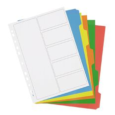 WS PP Dividers 5 Tab Multi-Coloured