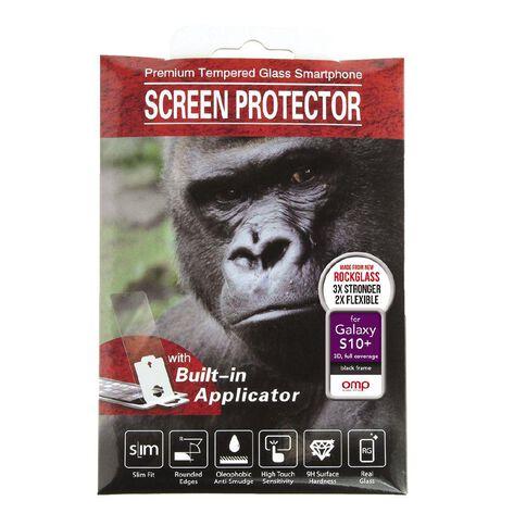 OMP Galaxy S10+ Premium Full Coverage Glass Screen Protector
