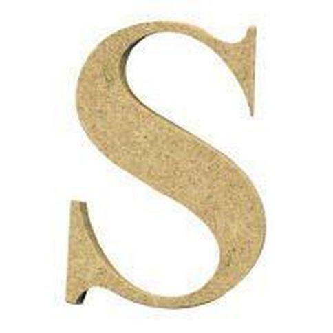 Sullivans Mdf Board Alphabet Letter 6cm S Brown