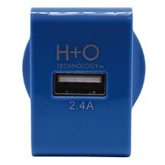 H+O USB Single 2.4A Wall Charger Blue