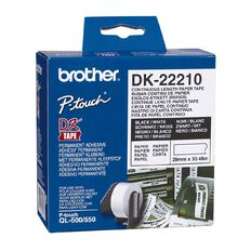 Brother Label Tape Dk-22210 29mm x 30.48m White