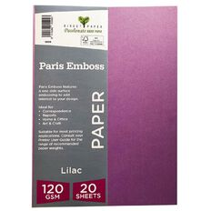Direct Paper Paris Emboss 120gsm A4 20 Pack Lilac