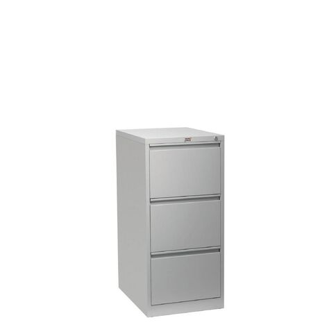 Workspace Filing Cabinet 3 Drawer Silver Grey