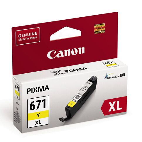 Canon Ink CLI671XL Yellow (690 Pages)