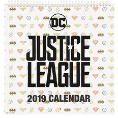 Justice League 2019 Calendar 305mm x 305mm