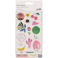 Uniti No Probllama Multi-Pack Stickers