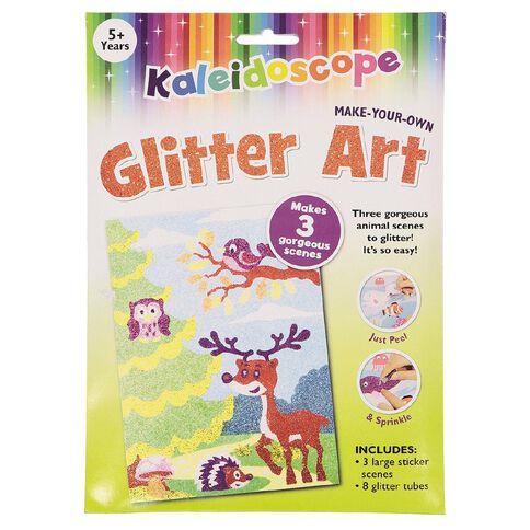 Kaleidoscope Glitter Art