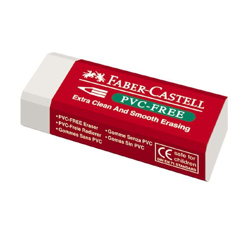 Faber-Castell Eraser 7095-20 PVC Free Large (Loose)