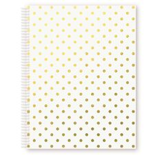 Miquelrius Notebook White With Gold Circles A4