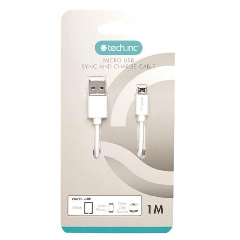 Tech.Inc Micro USB Cable 1m White