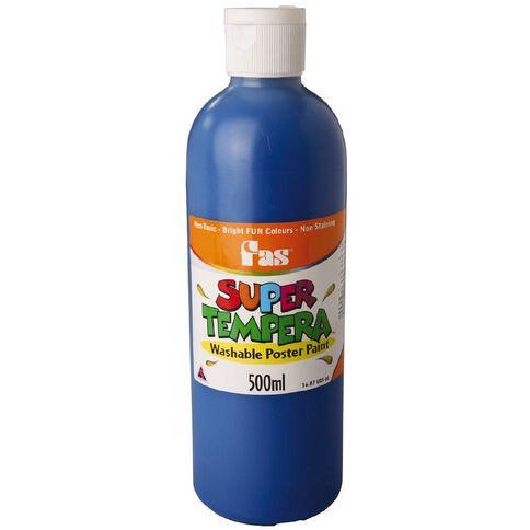 FAS Paint Super Tempera 500ml Blue Blue 500ml